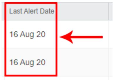 eZ Alerts Date