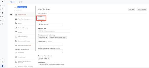 Google Analytics Basic Settings